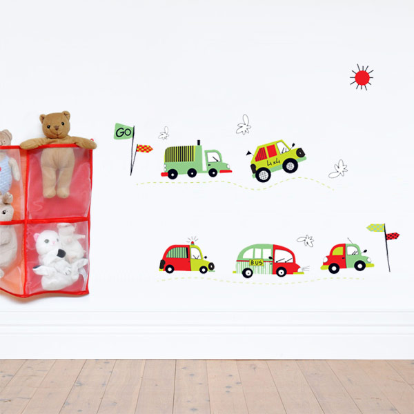 Cars Racing Wall Stickers for Boy's Room Wall Decor
