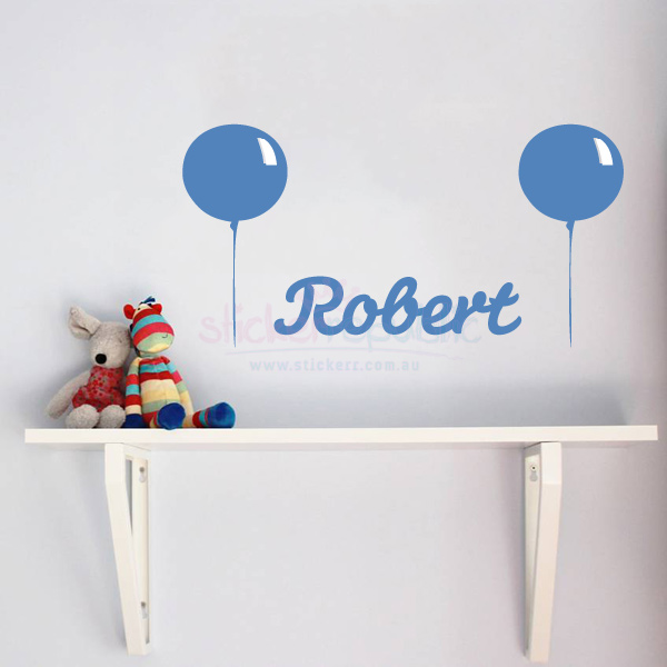 Personalised Boy's Name and Balloon Wall Sticker|Balloon Wall Decal