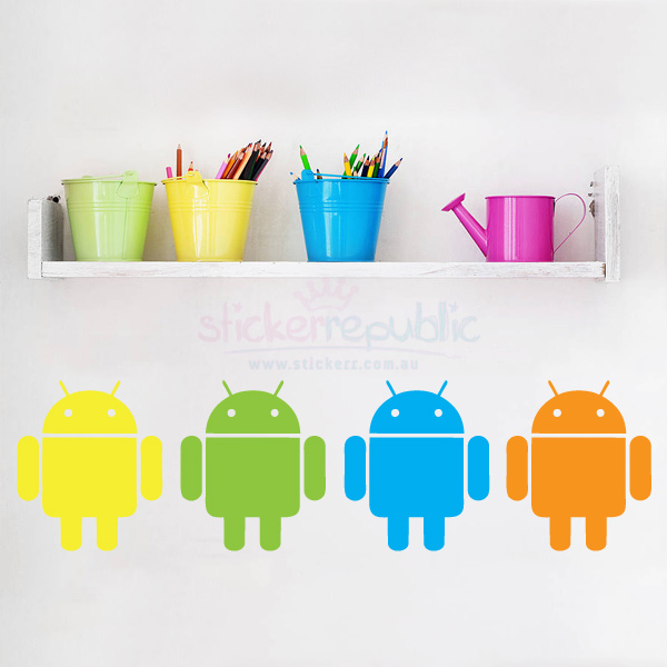 Colourful Robot Android Wall Stickers