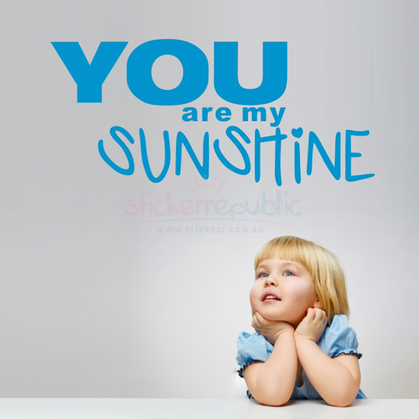 You Are My Sunshine Wall Sticker for Boy's Room