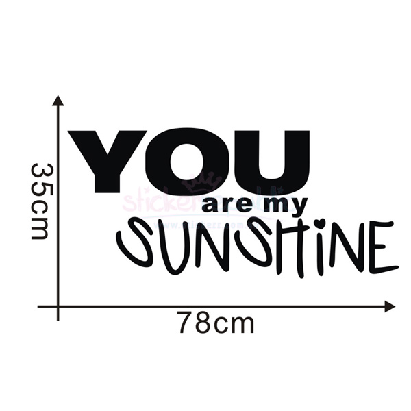 You Are My Sunshine Wall Decal for Girl's Room