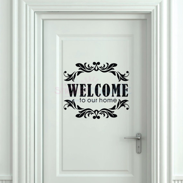 Welcome to Our Home Sign|Home Welcome Signs Wall Sticker