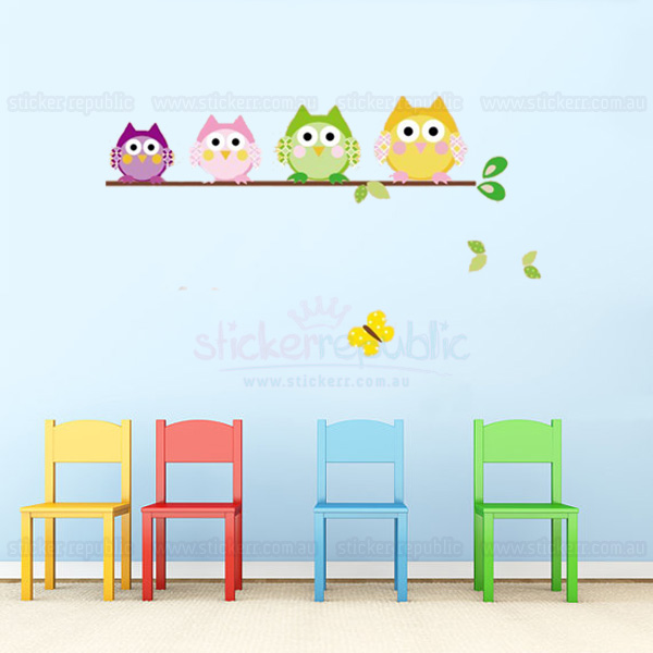Owls Family Wall Sticker [A]