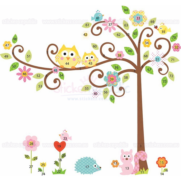 Happi Scroll Tree Wall Decal - Large