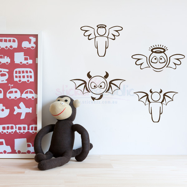 Cute Angels Set Wall Stickers
