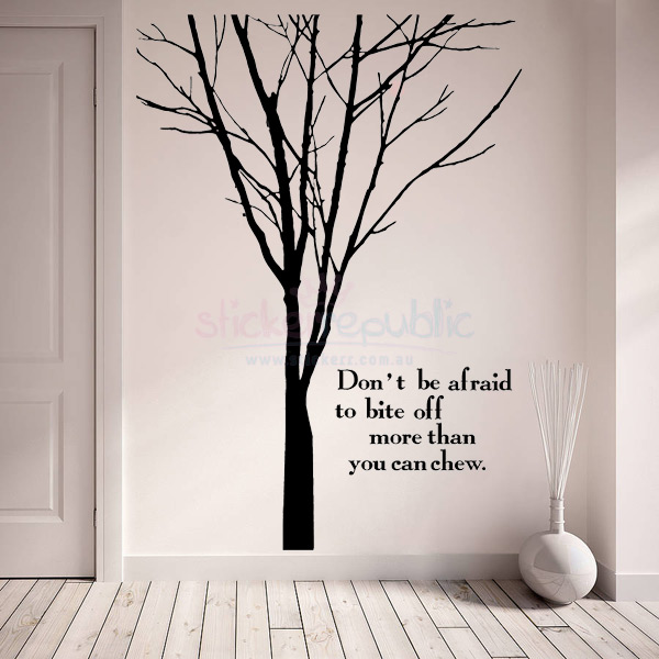 Words and Quotes Winter Tree Wall Decal - Large