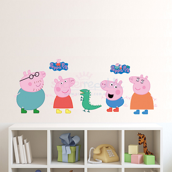 Peppa Pig Wall Sticker|Peppa Pig and Family Wall Decal