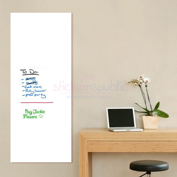Extra Large Whiteboard Wall Sticker - 60cm x 200cm