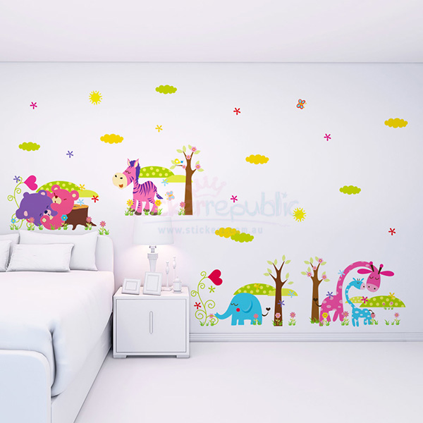 Bed Time Sleeping Animals Wall Stickers|Three Sets of Cute Animal Wall Decal