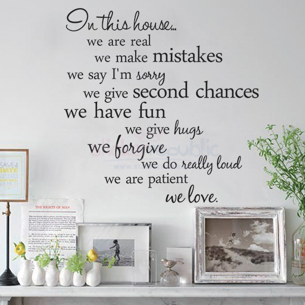 House Rule Words and Quotes Wall Decal|Fancy Style House Rule Wall Sticker