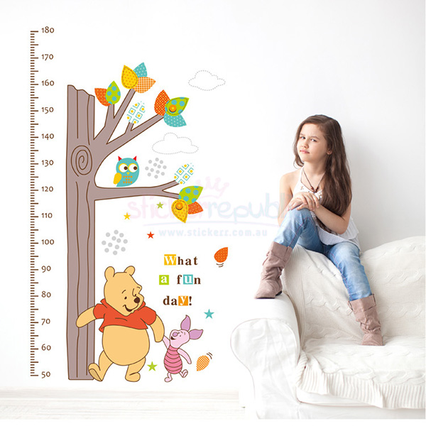 Winnie the Pooh and Friends Height Chart Wall Sticker
