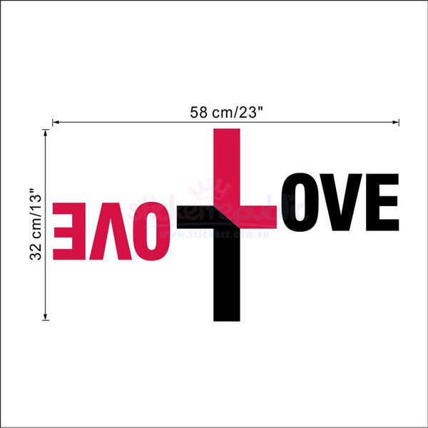Love - Cross Shaped Creative Wall Decal