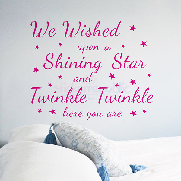 Wish Upon a Shining Star Wall Sticker