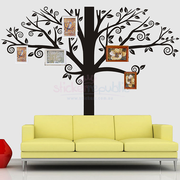 Large Black Tree Wall Decal