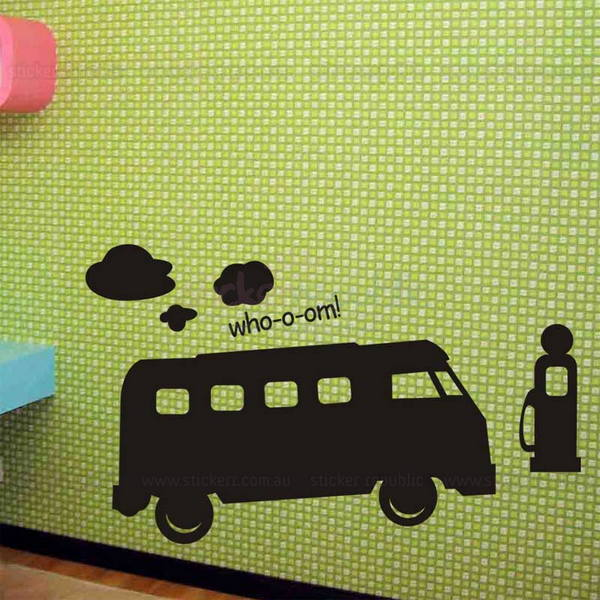 Bus Chalkboard Wall Sticker