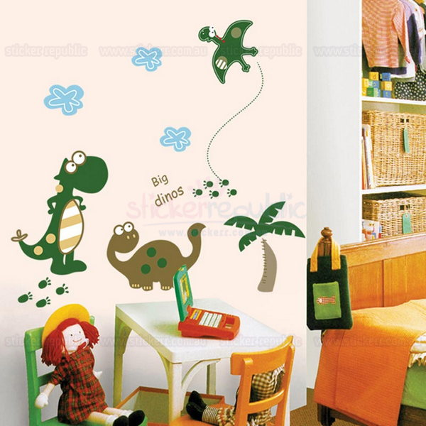 Big Dino Wall Sticker for Boy's Room Wall Decor