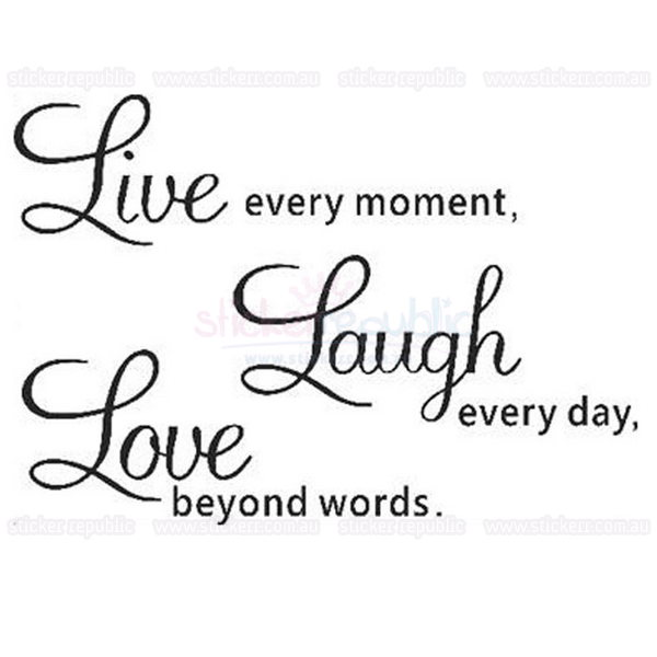 Live Laugh Love Words Wall Art Sticker