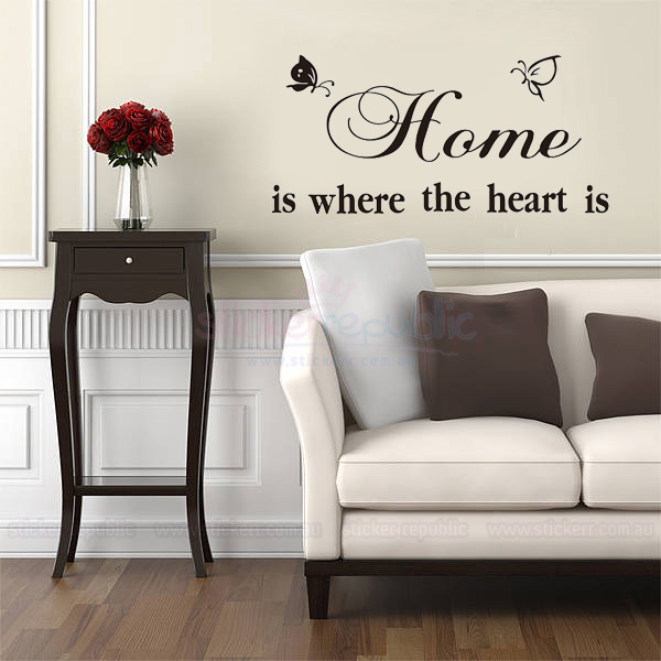 Home is Where the Heart is Words Wall Art