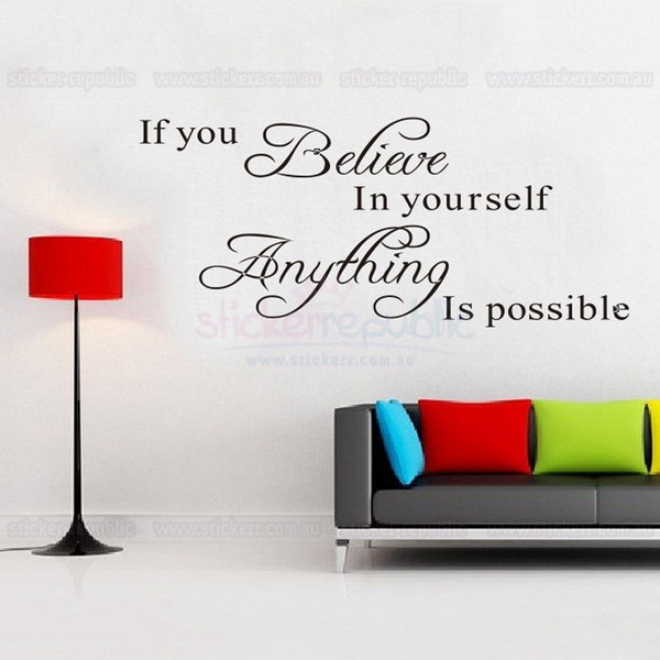 Believe in Yourself Quotes Wall Decal