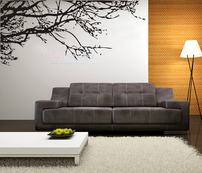 Large Black Tree Branch Wall Decal|Giant Tree Wall Sticker