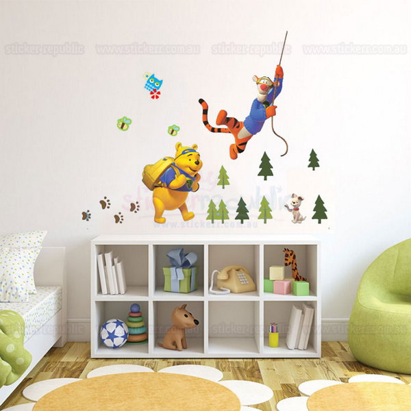 Winnie the Pooh and Tigger Too Wall Sticker - Swing Tigger Too