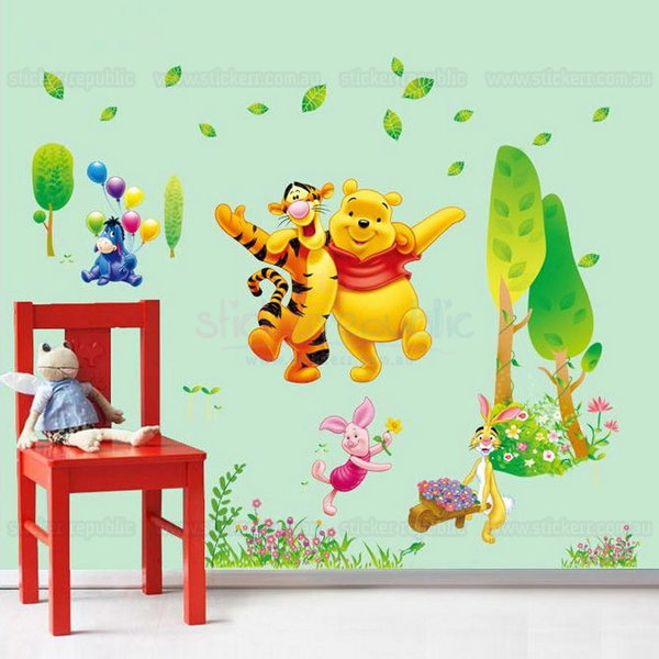 Winnie the Pooh and Tigger Too Wall Sticker - Playing