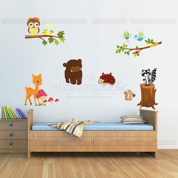 Wildlife Animal Wall Sticker for Nursery Room Decor