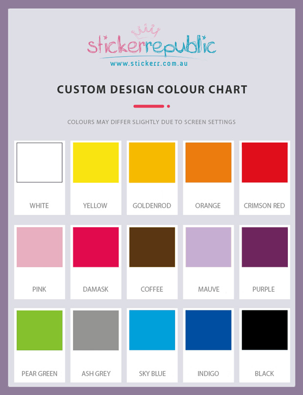 Custom Design - Colour Chart