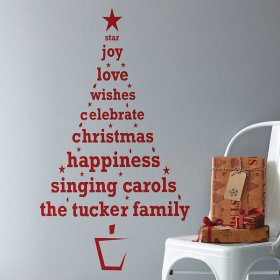 Personalised Christmas Tree Wall Decal
