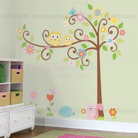 Happi Scroll Tree Wall Sticker - Small