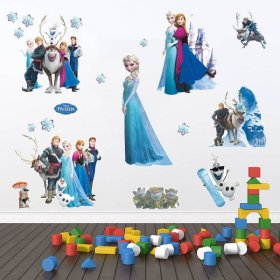 Frozen Wall Stickers|Disney Frozen Elsa Anna Kristoff Olaf Sven Wall Decal