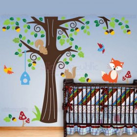 Forest Animal Tree Wall Decal