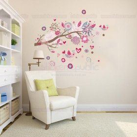 Pink Tree Branch Wall Decal
