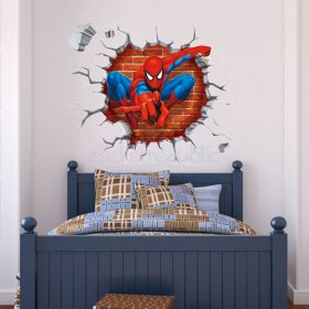 3D Spiderman Wall Sticker
