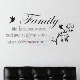 Family Like Branches Words and Quote Wall Decal