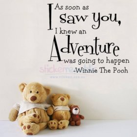 Winnie The Pooh Words and Quotes Wall Sticker