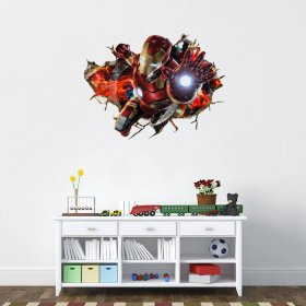 3D Iron Man Wall Art Sticker