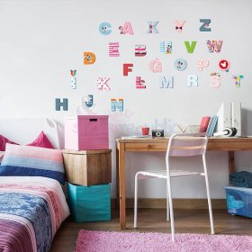 Mickey and Minnie Mouse Alphabet Letters Wall Sticker