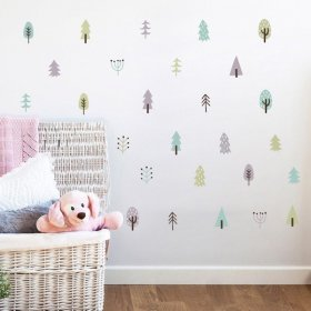 Set of Small Pine Trees Wall Stickers