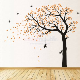 Large Autumn Tree Wall Decal