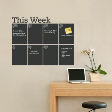 Chalkboard Weekly Planner Wall Decal|Blackboard Weekly Planner Wall Sticker