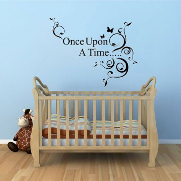 Once Upon A Time Words Wall Decal