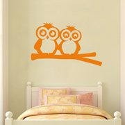 Custom Name and Owls on Branch Wall Sticker for Girl's Room Decor