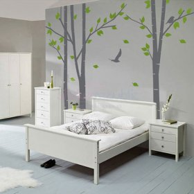 Flying Bird and Birch Tree Wall Decal|Large Birch Tree Wall Sticker