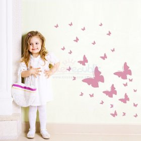 Butterflies Wall Sticker for Girl's Room Wall Decor