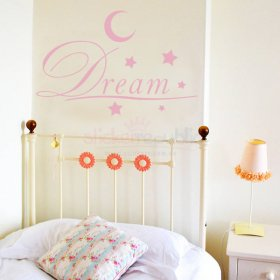 Sweet Dreams Moon and Stars Wall Decal