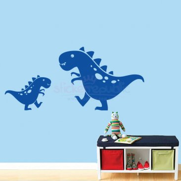 Two Dinosaurs Wall Sticker